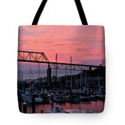 Sunset Port Tote Bag