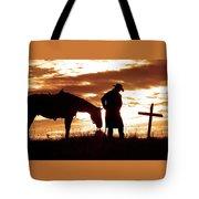 Sunset Prayer Tote Bag