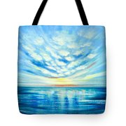 Sunset Quest Blue Tote Bag