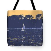 Sunset Race Tote Bag
