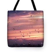 Sunset Raindrops Tote Bag