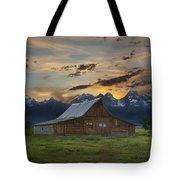 Moulton Barn Sunset Grand Teton National Park Tote Bag