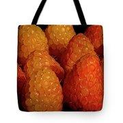 Sunset Raspberries Tote Bag