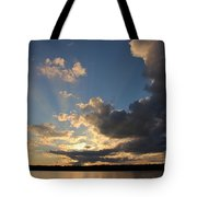 Sunset Rays On The Shore Tote Bag