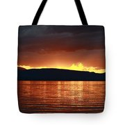 Sunset Red Tote Bag