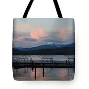 Sunset Reflecting Off Priest Lake Tote Bag