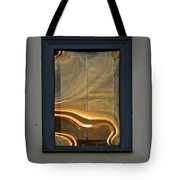 Sunset Reflection On Small Window Tote Bag