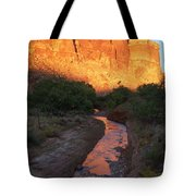 Sunset Reflection - Fremont River Tote Bag