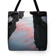 Sunset Reflections In Venice Tote Bag