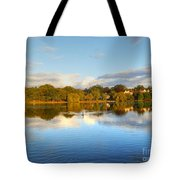 Sunset Reflections On The Lake Tote Bag