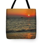 Sunset Ride Cape May Point Nj Tote Bag