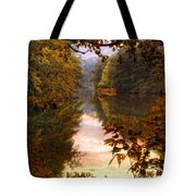 Sunset River View Tote Bag