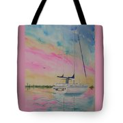 Sunset Sail 3 Tote Bag