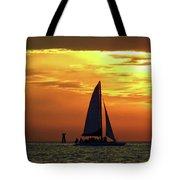 Sunset Sail Away Tote Bag