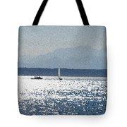 Sunset Sailboats  Tote Bag