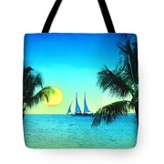 Sunset Sailor Tote Bag by Bill Cannon