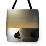 Sunset Schooners Tote Bag