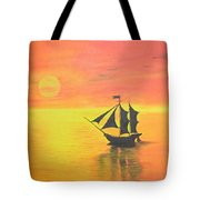 Sunrise Sea Ship Sss  Tote Bag