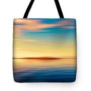 Sunset Seascape Island Tote Bag