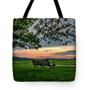 Sunset Seating Portrait Tote Bag