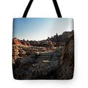 Sunset Shadows In The Badlands Tote Bag