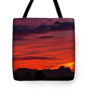 Sunset Silhouette H1816 Tote Bag