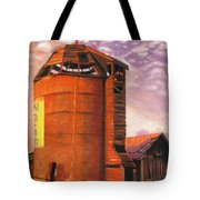 Sunset Silo Tote Bag