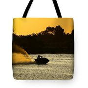 Sunset Ski Tote Bag