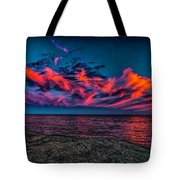 Sunset Sky At East Point Tote Bag