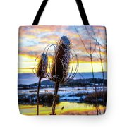 Sunset Snow Tote Bag