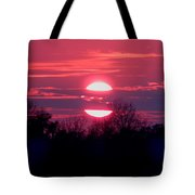 Sunset Split Tote Bag