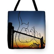 Sunset Spouting Whale Tote Bag