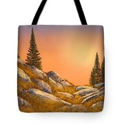 Sunset Spruces Tote Bag