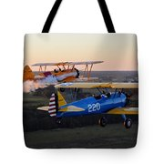 Sunset Stearmans Tote Bag