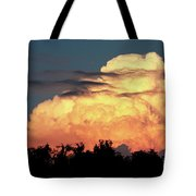 Sunset Storm Clouds Over The Marsh Tote Bag