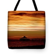 Sunset Stroll Along The Beach 2582 H_2 Tote Bag