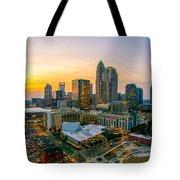 Sunset Sunrise Over Charlotte Skyline North Carolina Tote Bag