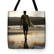 Sunset Surfer Tote Bag by Kicka Witte - Printscapes