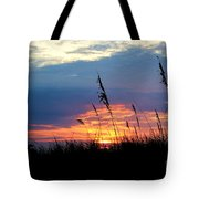 Sunset Through The Oats Tote Bag