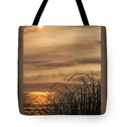Sunset Through The Seagrass Tote Bag