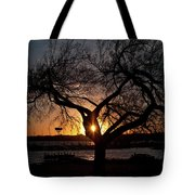 Sunset Through The Tree Tote Bag