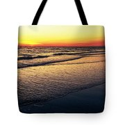 Sunset Time On Sunset Beach Tote Bag
