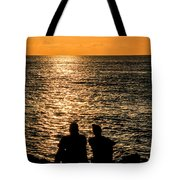 Sunset Together In Key West Tote Bag