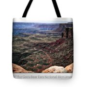 Sunset Tour Valley Of The Gods Utah Text 04 Tote Bag