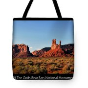 Sunset Tour Valley Of The Gods Utah Text 09 Black Tote Bag