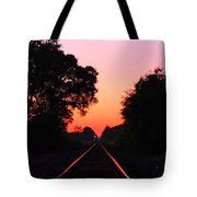 Sunset Track Tote Bag