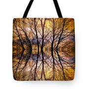 Sunset Tree Silhouette Abstract 1 Tote Bag