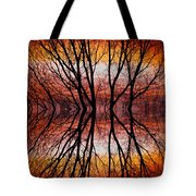 Sunset Tree Silhouette Abstract 2 Tote Bag