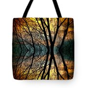 Sunset Tree Silhouette Abstract 3 Tote Bag