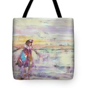 Sunset Twirling Tote Bag